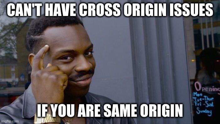 MEME: Can't have cross origin issues, if you are same origin